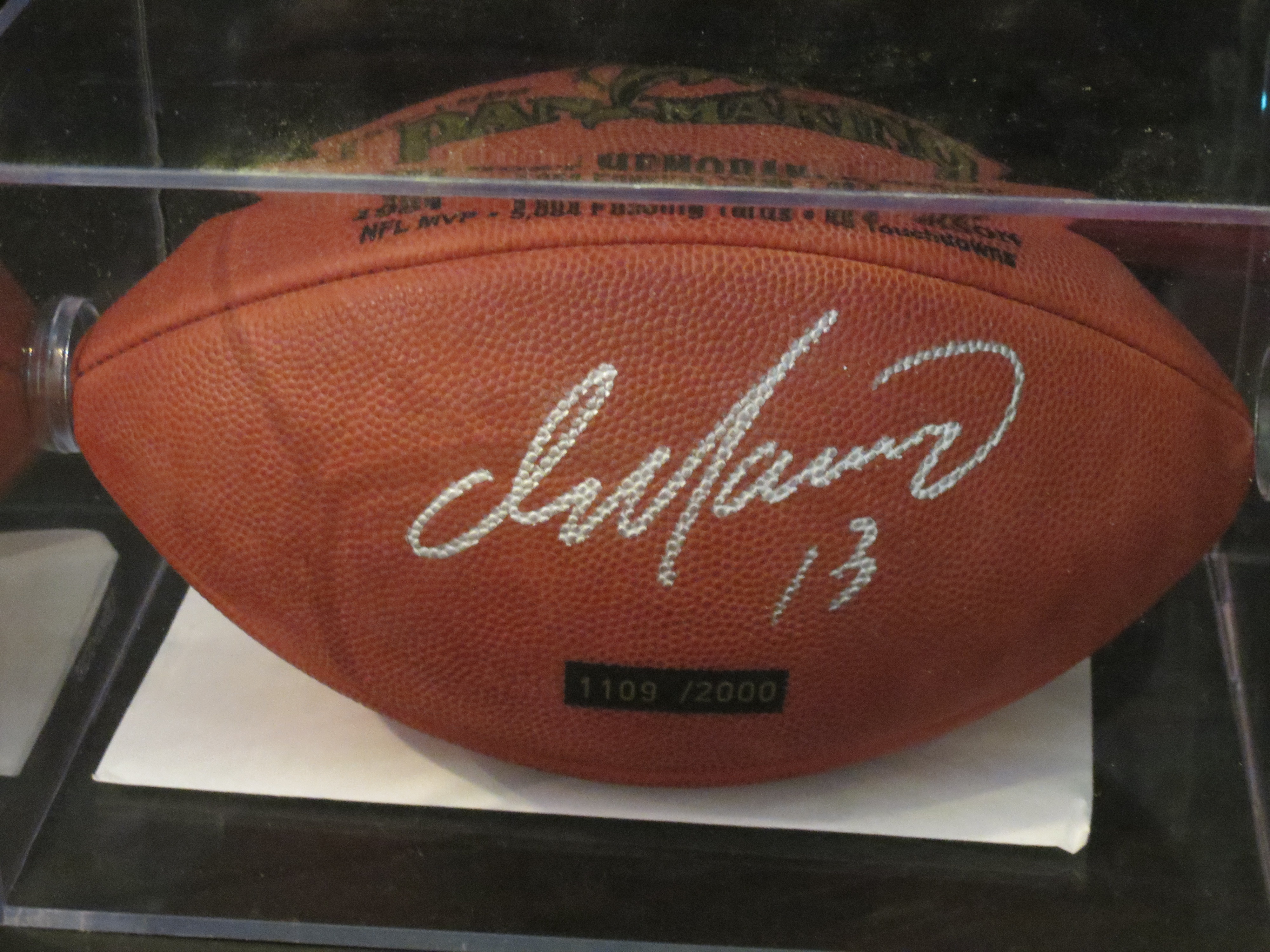Dan Marino Autographed Football-Mounted Memories (Miami Dolphins)