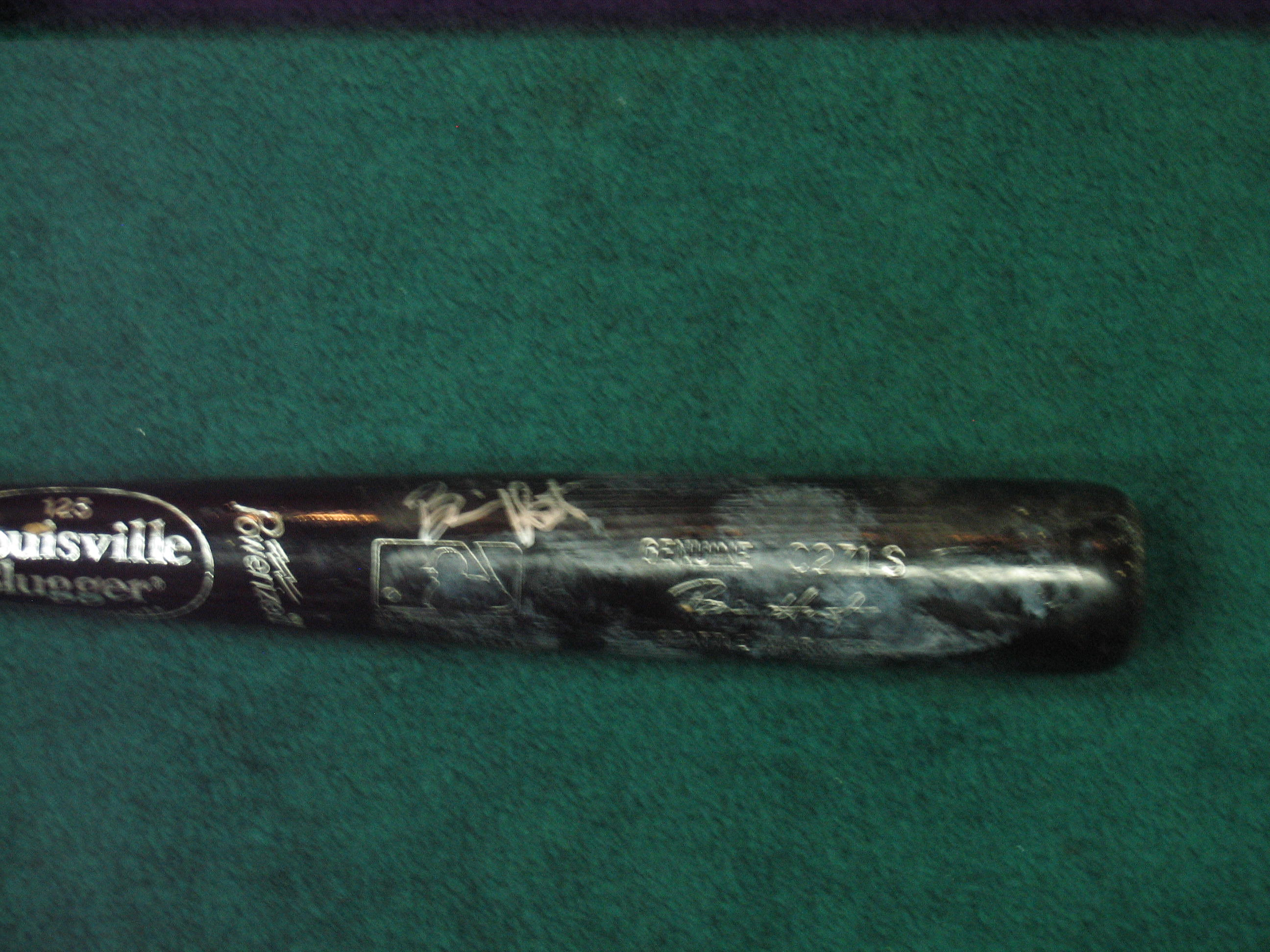 Brian Hunter Game Used Bat/Auto (Seattle Mariners)