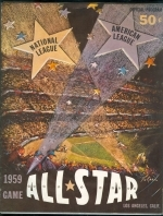 1959 All Star Program - Game In Los Angeles