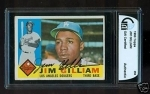 Jim Gilliam Autographed Card (Los Angeles Dodgers)