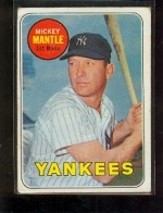 Mickey Mantle UER - Last Name In Yellow, No Topps Copyright On Back (New York Yankees)