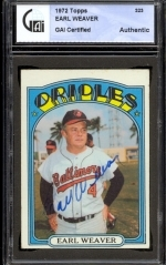 Earl Weaver Autographed Card (Baltimore Orioles)