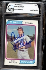 Don Sutton Autographed Card (Los Angeles Dodgers)