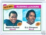 Walter Payton/O.J. Simpson LL (N.F.L. Rushing Leaders)