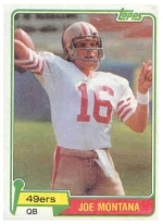 Joe  Montana RC (San Francisco 49ers)