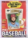 1983 Fleer Wax Box - 36 Packs