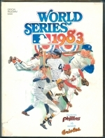 1983 World Series Program Philadelphia Phillies Baltimore Orioles (Philadelphia Phillies)