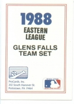 1988 Glens Falls Tigers Team Set (Glens Falls Tigers)