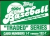 1991 Topps Traded Set