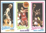 Larry Bird RC 34/Julius Erving TL 174/Magic Johnson RC 139