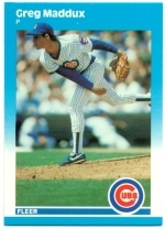 Greg Maddux XRC (Chicago Cubs)