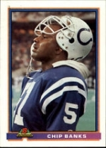 Chip Banks Autographed Card (Indianapolis Colts)