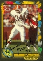 Kevin Mack Autographed Card (Cleveland Brown)