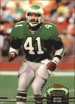 Keith Byars Autographed Card (Philadelphia Eagles)
