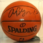 Andrew Bynum- Autographed Basketball- UDA (Los Angeles Lakers)