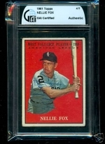 Nellie Fox Autographed Card (Chicago White Sox)