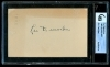 Leo Durocher 3x5 Autograph (Brooklyn Dodgers)