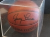 Jerry Lucas-Autographed Basketball-PSA (New York Knicks)
