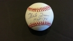 Autographed Baseball Monte Irvin GAI (New York Giants)