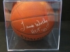 James Worthy-Autographed Basketball-Hall Of Fame Sports (Los Angeles Lakers)