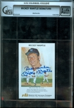 Mickey Mantle Autographed Postcard (New York Yankees)