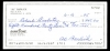 Al Barlick Signed Check (Umpire)