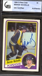 Bernie Nicholls Autographed Card (Los Angeles Kings)