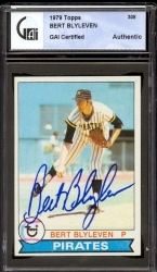 Bert Blyleven Autographed Card (Pittsburgh Pirates)