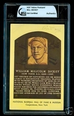 Bill Dickey HOF Auto Postcard (New York Yankees)