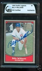 Billy Williams Autographed Card (Chicago Cubs)