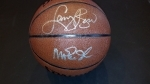 Magic Johnson / Larry Bird Autographed Basketball