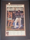 Barry Bonds Autographed Newspaper-GAI (San Francisco Giants)