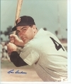 Lou Boudreau Autographed 8 x 10  (Boston Red Sox)