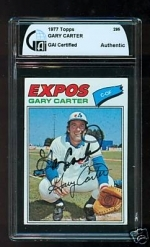 Gary Carter Autographed Card (Montreal Expos)