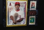 Chone Figgins Autographed Card and Display (Anaheim Angels)