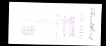 Thomas Henrich Signed Check (New York Yankees)