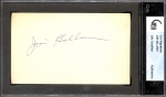 Jim Gilliam Autographed 3 x 5 (Brooklyn Dodgers)