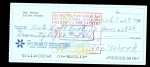 Joe Wood Signed Check (Boston American)