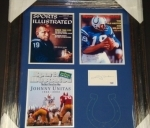 Johnny Unitas Cut Auto (Baltimore Colts)
