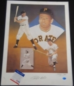Ralph Kiner 16x20 Autographed Pelusso (Pittsburgh Pirates)