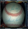 Autographed Baseball Sandy Koufax / Nolan Ryan PSA/DNA (Los Angeles Dodgers / Houston Astros)