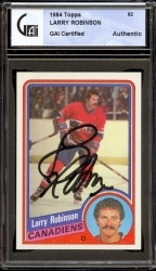 Larry Robinson Autographed Card (Montreal Canadiens)