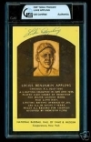 Luke Appling HOF Auto Postcard (Chicago White Sox)
