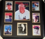 Mickey Mantle-Framed Autographed Postcard GAI(New York Yankees)