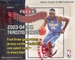 2003-04 Fleer Patchworks - 18 Packs