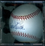 Autographed Baseball Reggie Smith (Los Angeles Dodgers)