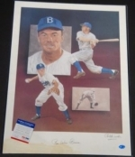 Pee Wee Reese 16x20 Autographed Pelusso (Brooklyn Dodgers)