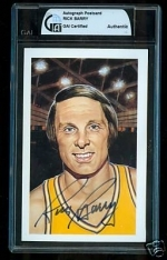 Rick Berry Autographed Postcard (Golden State Warriors)