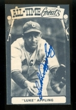 Luke Appling Autographed Card (Chicago White Sox)