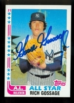 Rich Gossage AS Autographed Card (New York Yankees)